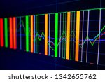 stock exchange market graph on... | Shutterstock . vector #1342655762