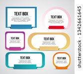 vector colorful text box ... | Shutterstock .eps vector #1342661645