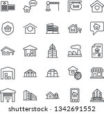 thin line icon set   barrier... | Shutterstock .eps vector #1342691552