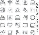 thin line icon set   desk... | Shutterstock .eps vector #1342694585