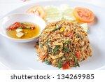 thai spicy food basil shrimp... | Shutterstock . vector #134269985