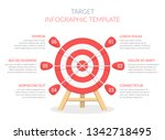 target with six arrows ... | Shutterstock .eps vector #1342718495