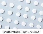 background of group white pills.... | Shutterstock . vector #1342720865