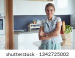 portrait of young woman...   Shutterstock . vector #1342725002
