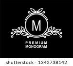 premium monogram template for... | Shutterstock .eps vector #1342738142