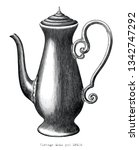 antique engraving illustration... | Shutterstock .eps vector #1342747292