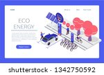 web page template. eco... | Shutterstock .eps vector #1342750592