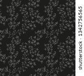 hand drawn flower seamless... | Shutterstock .eps vector #1342756565