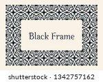 eastern gold frame arabic... | Shutterstock .eps vector #1342757162