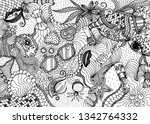 hand drawn doodle backdrop... | Shutterstock .eps vector #1342764332