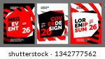 red layout design template for... | Shutterstock .eps vector #1342777562