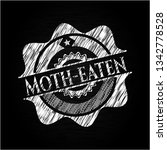 moth eaten chalk emblem | Shutterstock .eps vector #1342778528