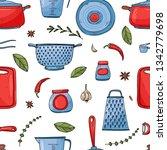 color seamless vector pattern... | Shutterstock .eps vector #1342779698
