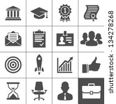 business career icons. vector... | Shutterstock .eps vector #134278268