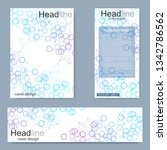 set flyer  brochure size a4... | Shutterstock .eps vector #1342786562