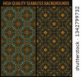 vector seamless pattern with... | Shutterstock .eps vector #1342799732