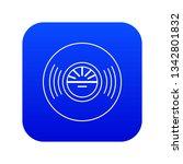 vinyl record icon blue vector...   Shutterstock .eps vector #1342801832