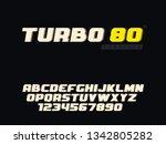 vector latin uppercase alphabet ...   Shutterstock .eps vector #1342805282
