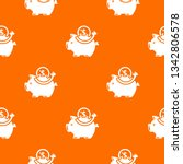 pig money pattern vector orange ...   Shutterstock .eps vector #1342806578