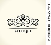 vintage gold logo. flourishes... | Shutterstock .eps vector #1342807445