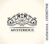vintage gold logo. flourishes... | Shutterstock .eps vector #1342807448