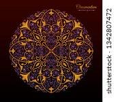 vintage luxury decorative... | Shutterstock .eps vector #1342807472