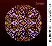 vintage luxury decorative... | Shutterstock .eps vector #1342807475