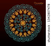 vintage luxury decorative... | Shutterstock .eps vector #1342807478
