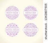 calligraphic luxury line logo... | Shutterstock .eps vector #1342807505