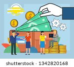 business growth  savings.... | Shutterstock .eps vector #1342820168