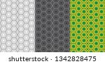 geometric seamless patterns.... | Shutterstock .eps vector #1342828475