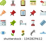 color flat icon set   easter... | Shutterstock .eps vector #1342829612