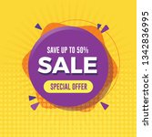 special offer sale banner with...   Shutterstock .eps vector #1342836995