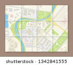 city map navigation banner ...   Shutterstock .eps vector #1342841555