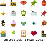 color flat icon set   easter... | Shutterstock .eps vector #1342842542