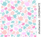Tea Time. Seamless Pattern Wit...