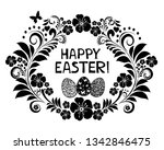 easter card with egg  frame and ... | Shutterstock .eps vector #1342846475