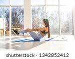 young sporty woman practicing... | Shutterstock . vector #1342852412