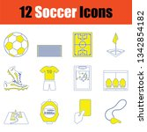 football icon set. thin line...