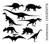 prehistoric animals dinosaur...   Shutterstock .eps vector #1342856978