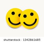 modern yellow laughing two... | Shutterstock .eps vector #1342861685