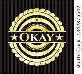 okay golden badge or emblem | Shutterstock .eps vector #1342875542