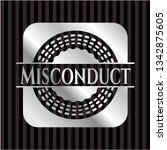 misconduct silvery emblem | Shutterstock .eps vector #1342875605