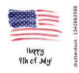 usa independence day background.... | Shutterstock . vector #1342883588