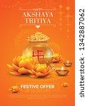 akshaya tritiya festival offer  ... | Shutterstock .eps vector #1342887062