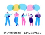 group of people having... | Shutterstock .eps vector #1342889612