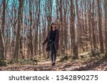beautiful female walking in... | Shutterstock . vector #1342890275