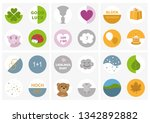set icons for stickers or... | Shutterstock .eps vector #1342892882