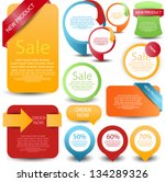 web element set | Shutterstock .eps vector #134289326