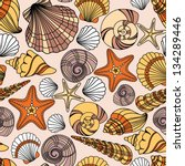 elegant seamless pattern with... | Shutterstock .eps vector #134289446